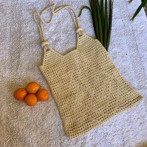 Handbags - Woven crocheted rope bag